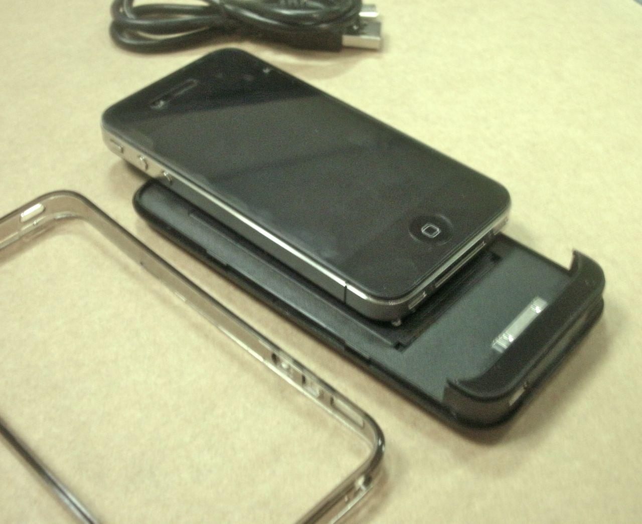 画像4: iPhone4 用バッテリーケース付き保護ケース