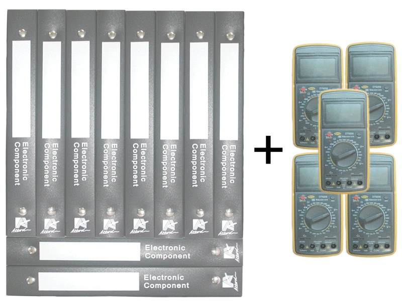 画像1: Electronic Component Book 10PCS SET (テスタ5台付き)